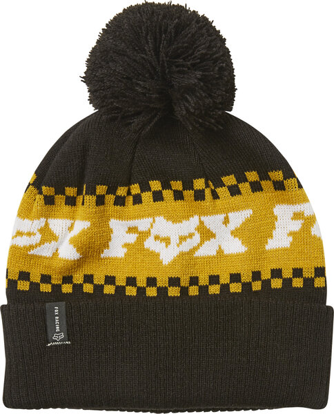 Fox Racing Overkill Beanie Color: Black/Yellow
