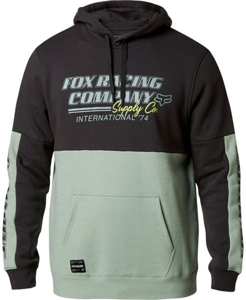Fox Racing Pit Stop Pullover Fleece Color: Black Vintage