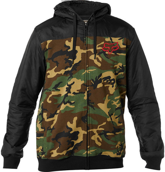 Fox Racing Pivot Zip Hoodie Color: Grey Camo