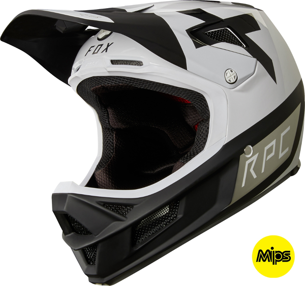 Fox Racing Rampage Pro Carbon Preest Helmet Color: White/Black