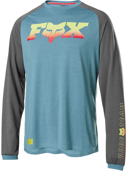 Fox Racing Ranger Drirelease Long-Sleeve Fox Head Jersey Color: Light Blue