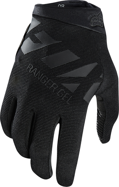 Fox Racing Ranger Gel Gloves Color: Black/Black