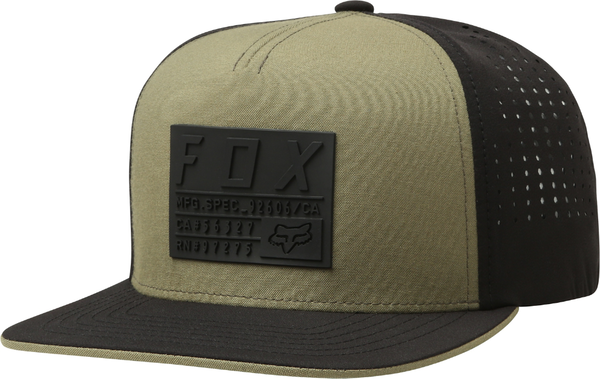 Fox Racing Redplate Tech Snapback Hat Color: Fatigue Green