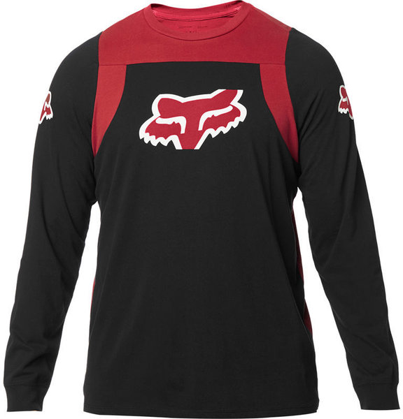 Fox Racing Scramble Long Sleeve Airline Shirt Color: Black/Red