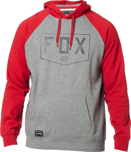 Fox Racing Shield Raglan Pullover Hoodie Color: Heather Graphite