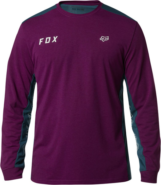 Fox Racing Starter Long-Sleeve Tech Tee Color: Dark Purple
