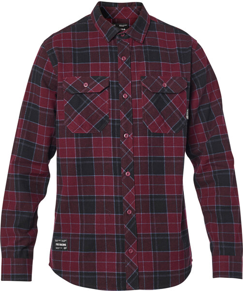 Fox Racing Traildust 2.0 Flannel Color: Cranberry