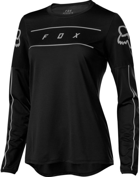 Fox Racing Women's Flexair Long Sleeve Jersey Color: Black