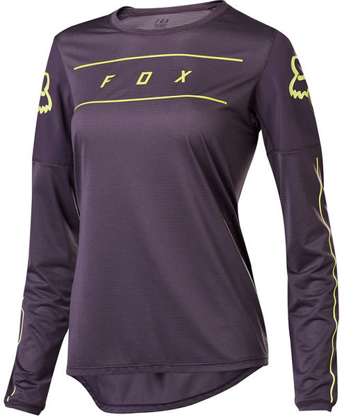 Fox Racing Women's Flexair Long-Sleeve Jersey Color: Dark Purple