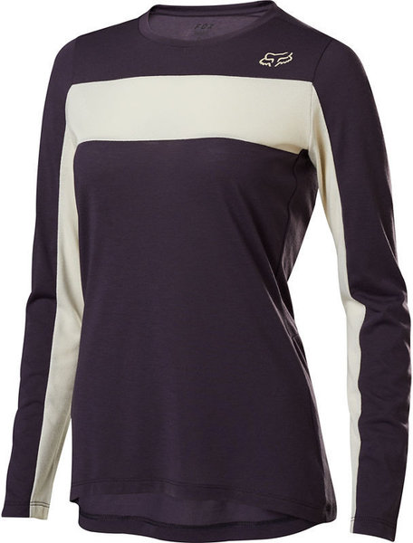 Fox Racing Women's Ranger Drirelease Long-Sleeve Jersey Color: Dark Purple