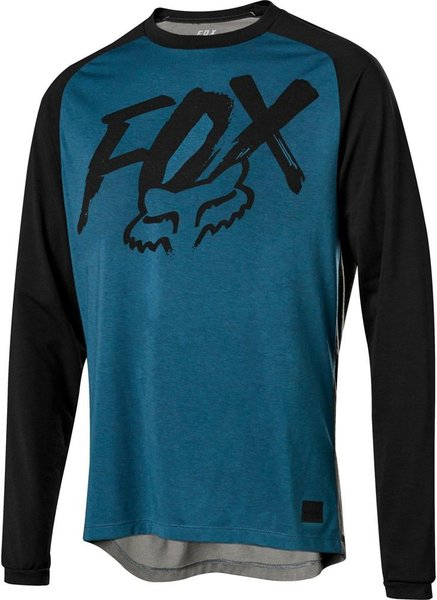 Fox Racing Youth Ranger Drirelease Long Sleeve Jersey Color: Midnight