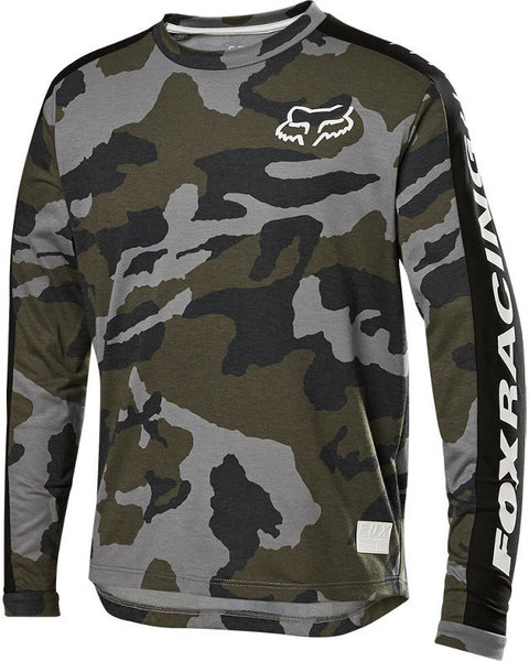 Fox Racing Youth Ranger Drirelease Jersey Color: Green Camo