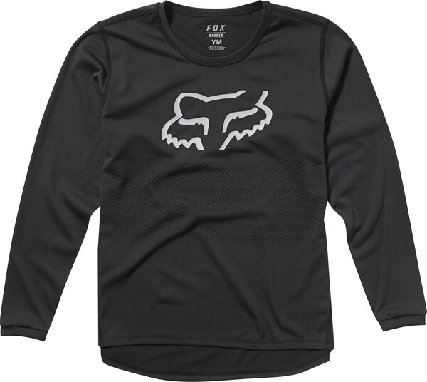 Fox Racing Youth Ranger Long Sleeve Jersey Color: Black