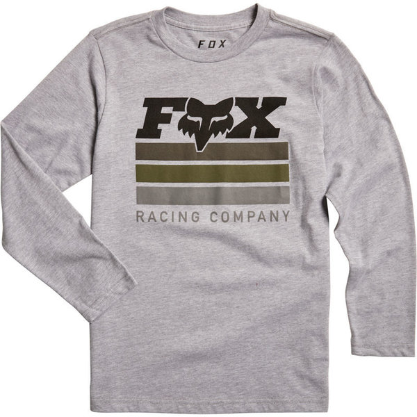 Fox Racing Youth Street Legal Long Sleeve Tee Color: Light Heather Grey
