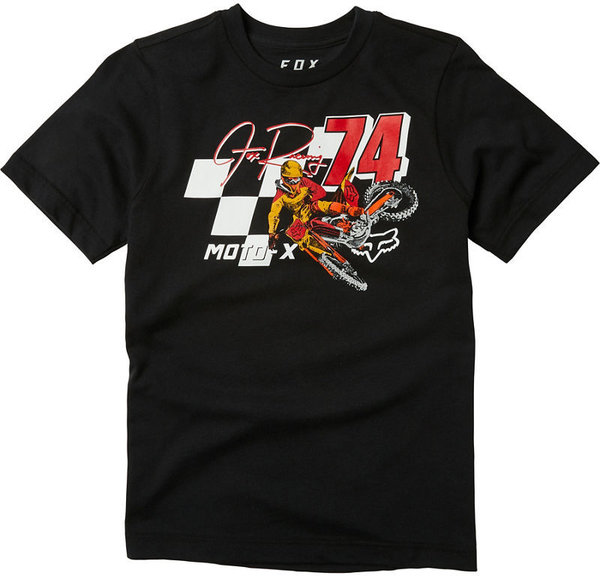 Fox Racing Youth Trackside Short Sleeve Tee Color: Black