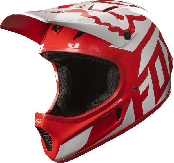 Fox Racing Rampage Race Helmet Color: Red/White