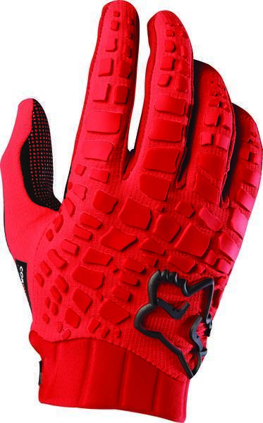 Fox Racing Sidewinder Gloves Color: Red