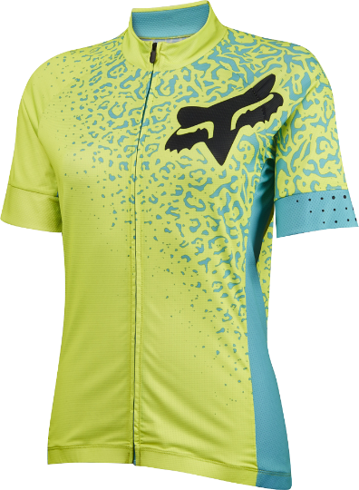 Fox Racing Women's Switchback Comp Short Sleeve Jersey Color: Fluorescent Yellow