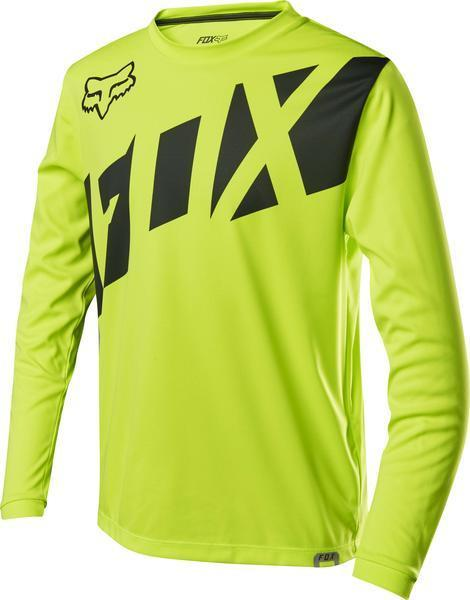 Fox Racing Youth Ranger Long Sleeve Jersey Color: Fluorescent Yellow
