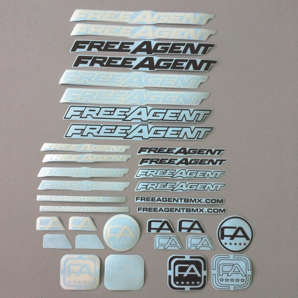 Free Agent Frame Decal Set