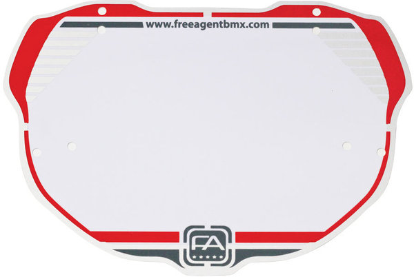 Free Agent Platinum Number Plate Color: Red/Gray