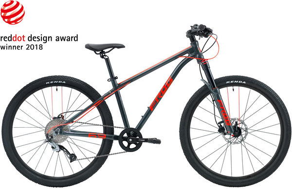 Frog Bikes Frog MTB 69 Color: Metallic Gray/Neon Red
