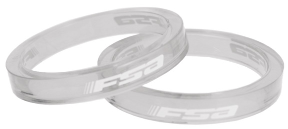 FSA Polycarbonate Headset Spacers Color | Size: Transparent | 5mm