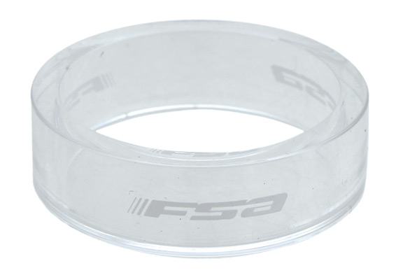FSA Polycarbonate Headset Spacers Color | Size: Transparent | 10mm