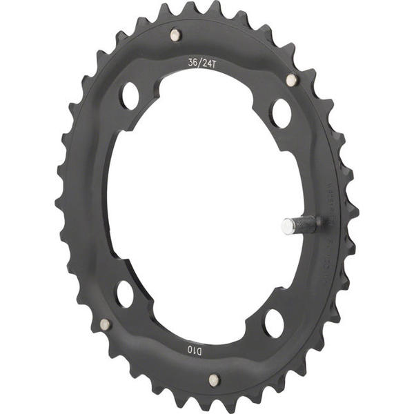 FSA MTB Pro Double Chainring BCD | Color | Size | Speeds: 104mm | Black | 36T | 10
