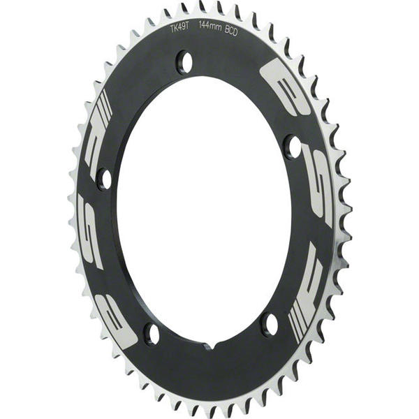 FSA Pro Track Chainring BCD | Color | Size | Speeds: 144mm | Black | 49T | Single