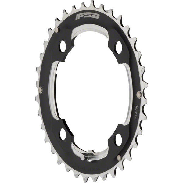 FSA Super Road Chainring BCD | Color | Size | Speeds: 104mm | Black | 36T | 10
