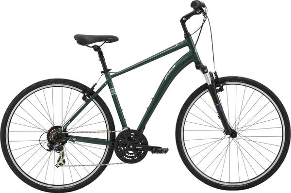 Fuji Crosstown 2.1 Color: Dark Green w/ Silver and Grey