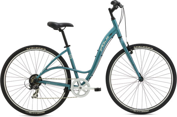 Fuji Crosstown 2.3 LS - Women's Color: Gloss Deep Turquoise w/ Light Gray and Cream