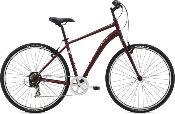 Fuji Crosstown 2.3 Color: Gloss Deep Red w/ Light Gray and White