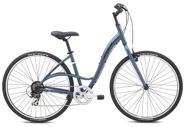 Fuji Crosstown 2.3 LS - Women's Color: Gloss Steel Blue w/Black and White