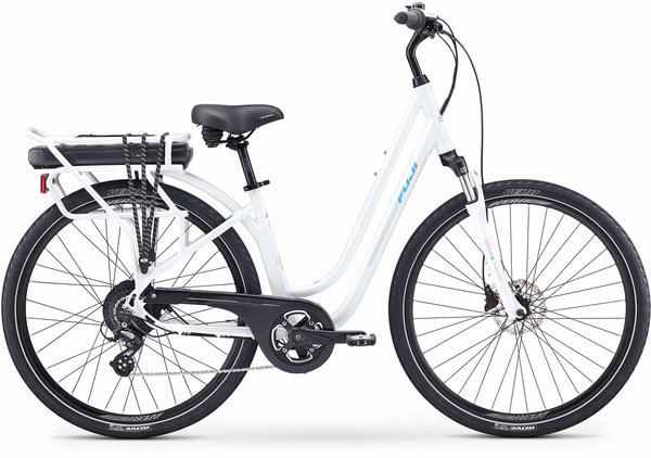 Fuji E-Crosstown LS Color: Pearl White