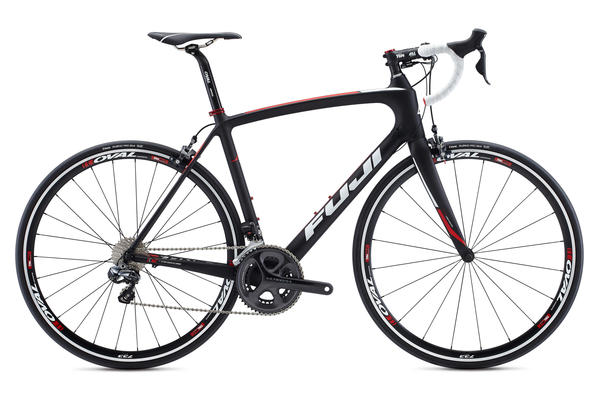 Fuji Gran Fondo 1.3 Color: Satin Carbon w/Neon Red and White
