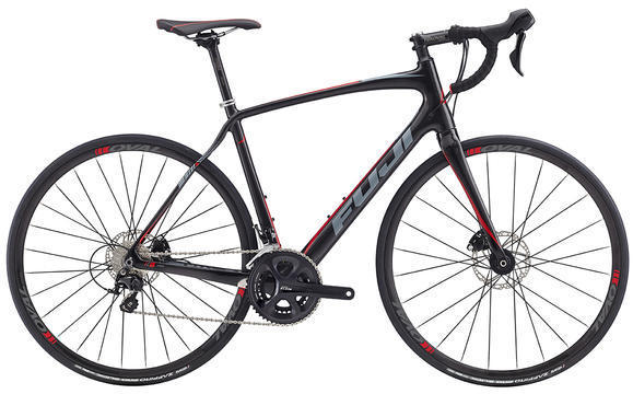 Fuji Gran Fondo 2.3 Disc Color: Carbon / Red