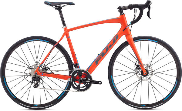 Fuji Gran Fondo 2.5 Disc Color: Satin Red Orange/Bright Blue