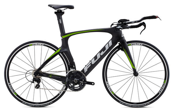 Fuji Norcom Straight 2.5 Color: Satin Carbon w/Silver and Lime