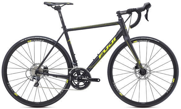 Fuji Roubaix 1.1 Disc Color: Satin Black / Citrus