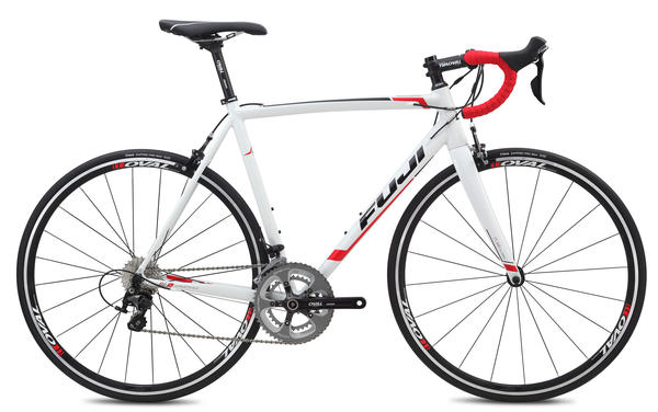 Fuji Roubaix 1.3 Color: Gloss White w/Black and Red