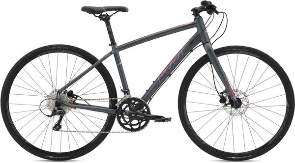 Fuji Silhouette 1.3 Disc - Women's Color: Satin Dark Gray w/ Pink and Red-Orange