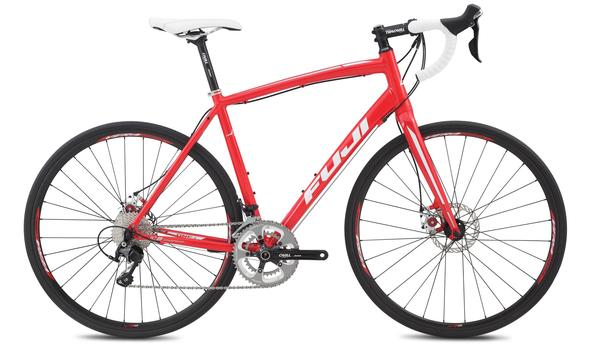 Fuji Sportif 1.1 Color: Gloss Red w/Silver and White