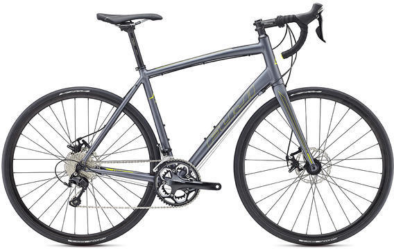 Fuji Sportif 1.3 Disc Color: Satin Gray / Citrus