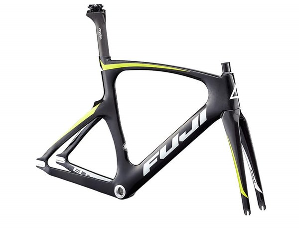 Fuji Track Elite Frame Color: Satin Carbon/Citrus