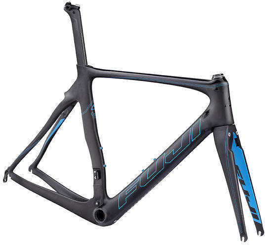 Fuji Transonic Elite Frame Color: Satin Carbon / Cyan