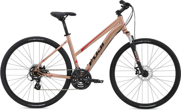 Fuji Traverse 1.7 Disc Step-Through - Women's Color: Light Copper w/ Red and Black