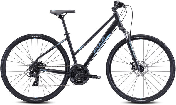 Fuji Traverse 1.7 ST Color: Satin Black/Cyan