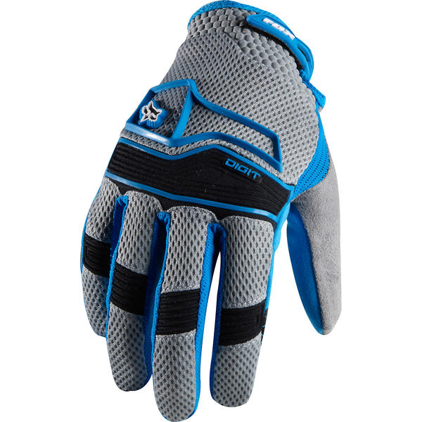 Fox Racing Digit Gloves Color: Blue/Gray